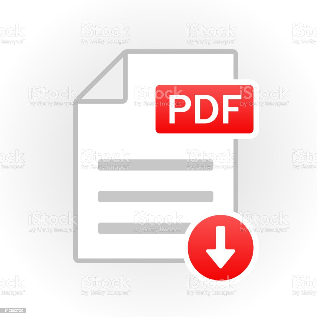 PDF icon isolated. File format. Vector vector art illustration