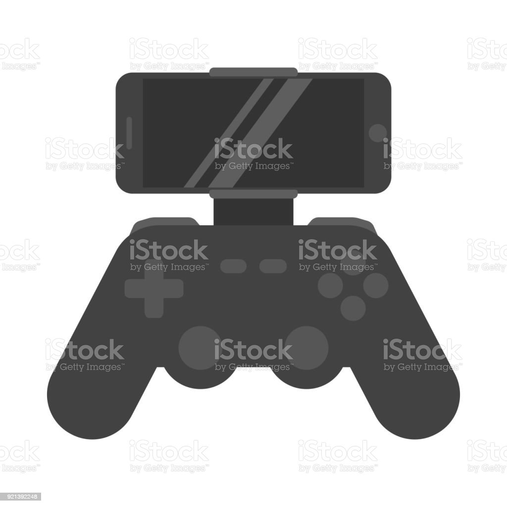 Icon Joystick Game Controller With Screen Phone Stock