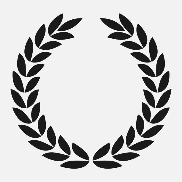 icon laurel wreath, spotrs design icon laurel wreath, spotrs design - vector illustration Black bay leaf stock illustrations