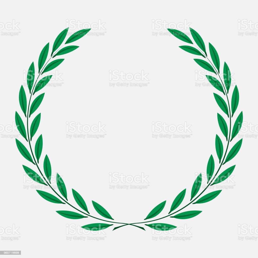 icon laurel wreath, spotrs design - Royalty-free Achievement stock vector