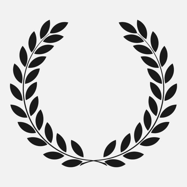 icon laurel wreath icon laurel wreath - vector illustration Black, dark icon laurel bay leaf stock illustrations