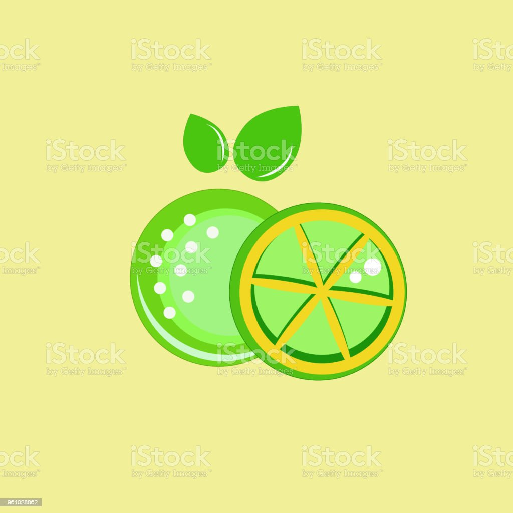 icon lemon design - Royalty-free Computer Graphic stock vector