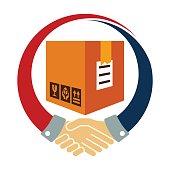 icon logo / illustration for logistics business cooperation