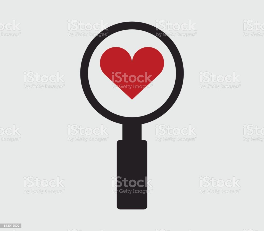 Icon Looking For Love Stock Vector Art 813015000 Istock