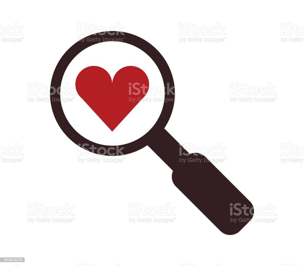 Icon Looking For Love Stock Vector Art 813015270 Istock