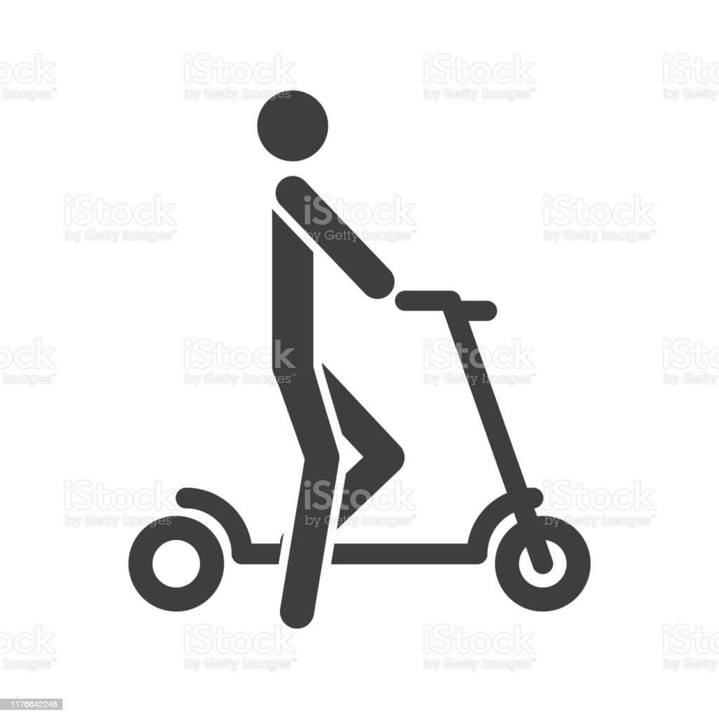 icon man on scooter vector on a white background stock illustration download image now istock icon man on scooter vector on a white background stock illustration download image now istock