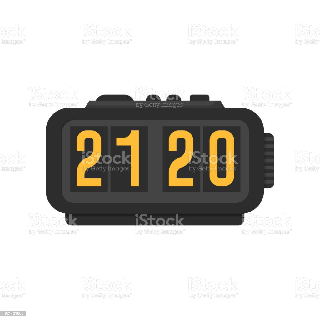 Icon Modern Alarm Clock Stock Vector Art More Images Of Alarm Istock