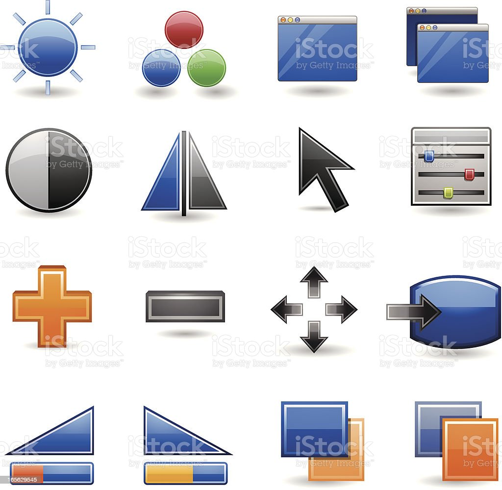 Icon - Monitor Adjustment royalty-free icon monitor adjustment stock vector art & more images of color image
