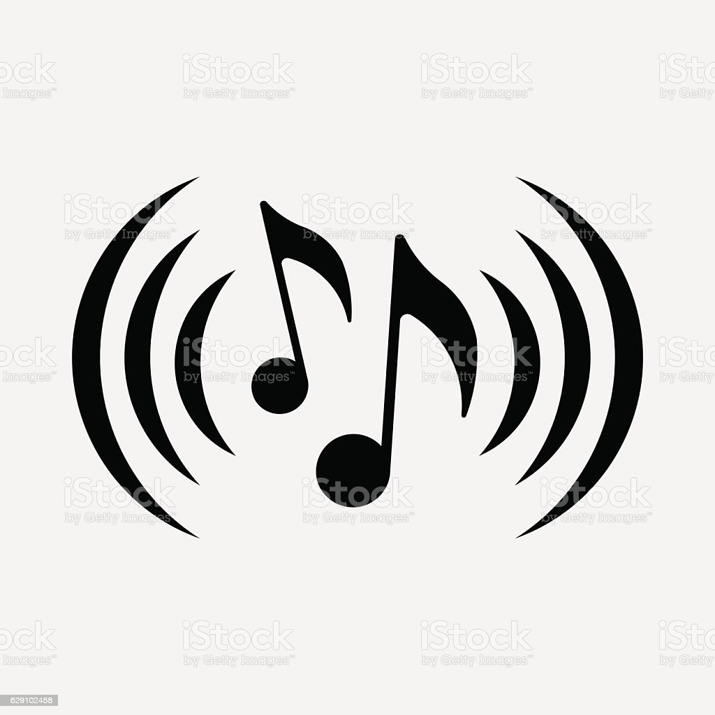 Icon Musical Notes Symbol Music Stock Vector Art More Images Of