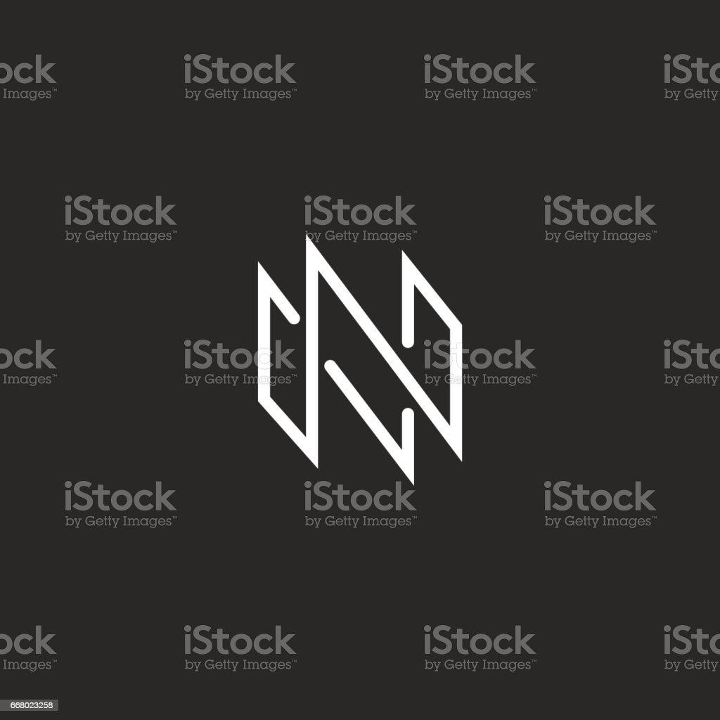 Lettre De Monogram Icne N Maquette Fine Ligne Design Moderne Lment Pour Emblme Carte