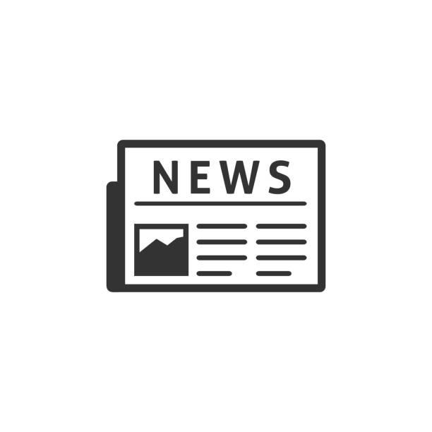 bw icon - newspaper - newspaper stock illustrations