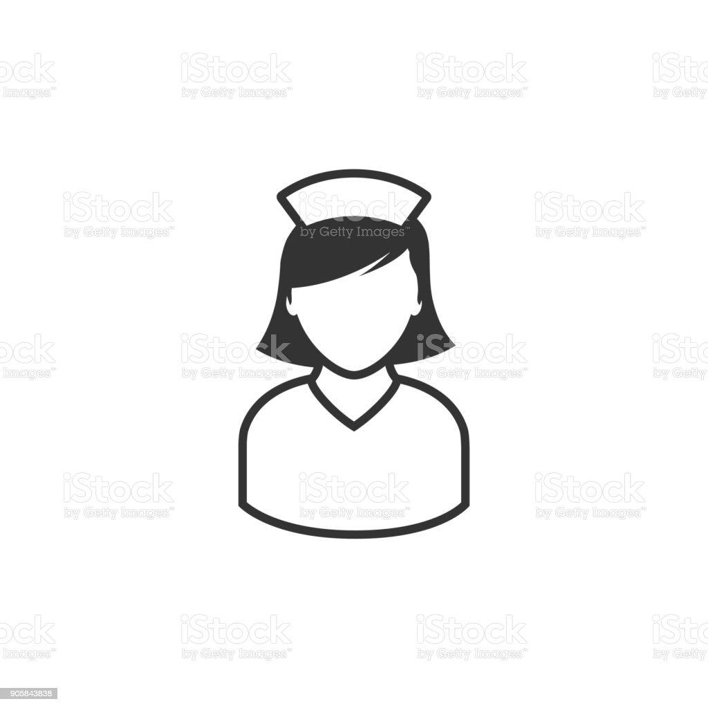 BW-Symbol - Krankenschwester – Vektorgrafik