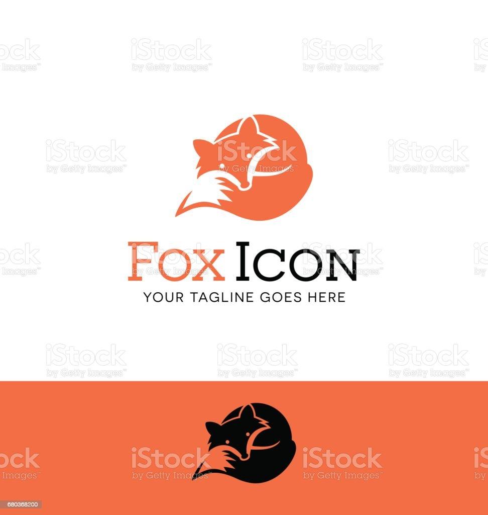 Icono de un zorro rojo encrespado para arriba - ilustración de arte vectorial
