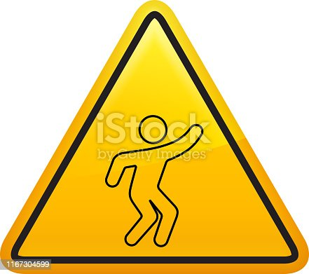 istock Icon of a man doing yoga 1167304599