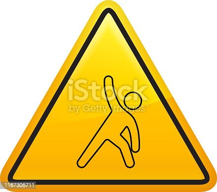istock Icon of a man doing yoga 1167305711