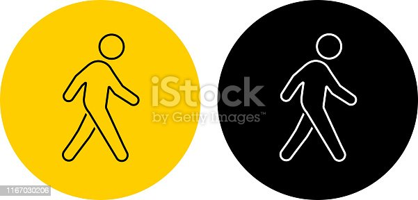 istock Icon of a man walking 1167030206