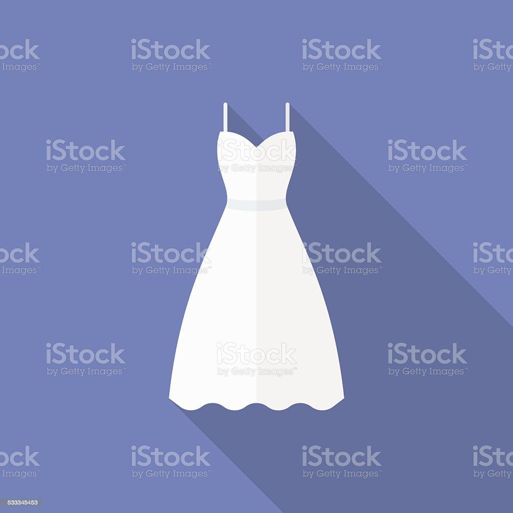Symbol Einer Hochzeit Kleid Flatstil Stock Vektor Art und mehr ...
