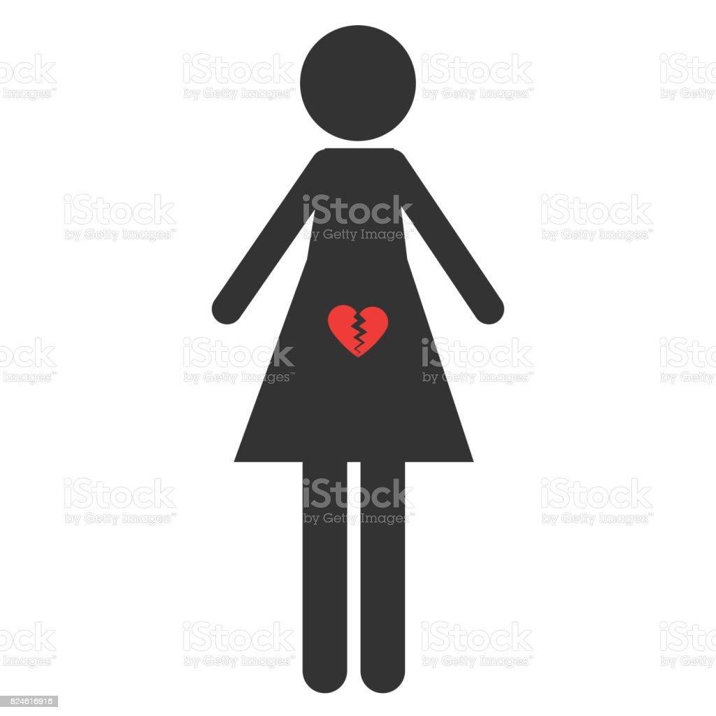 Icono del aborto. Muestra de pro vida y pro elección. - ilustración de arte vectorial