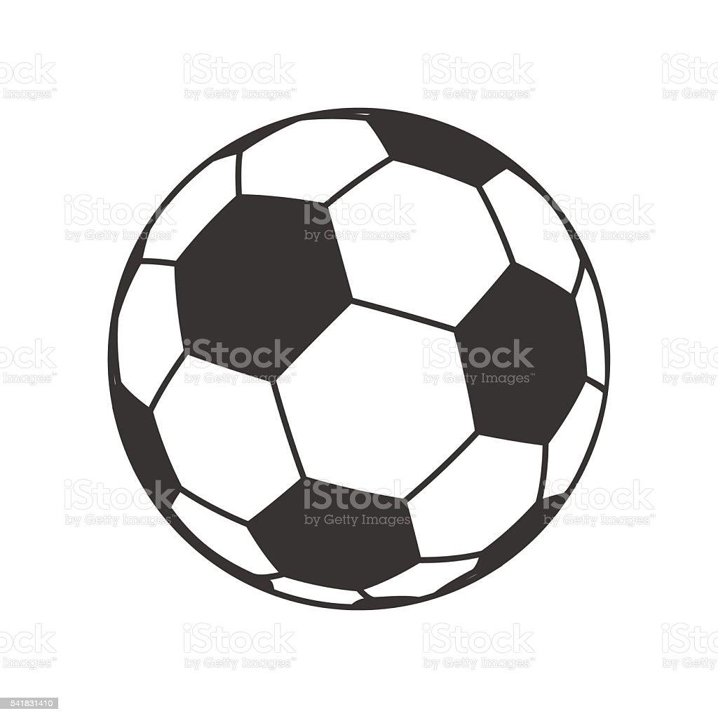 Symbol Der Ball Fur Fussball Fussballsymbol Zeichen Stock