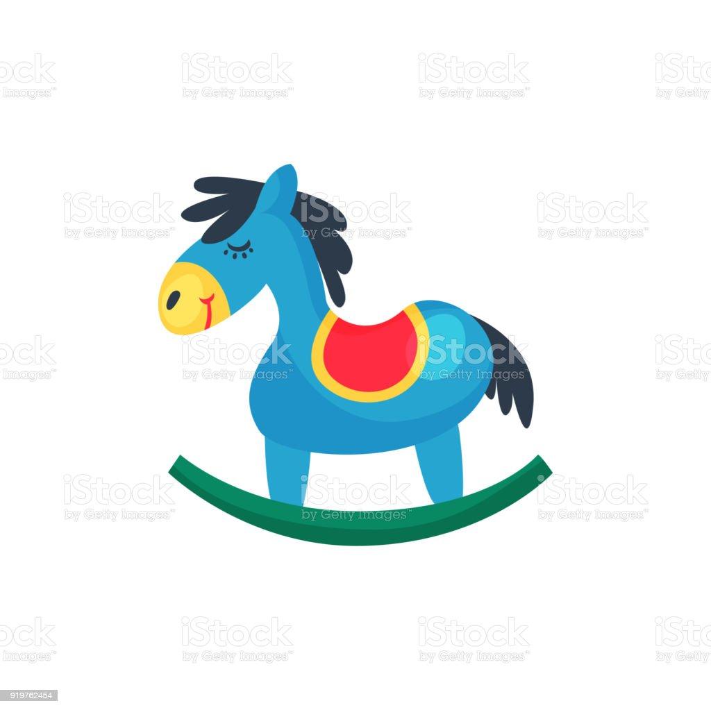 Ilustración de Icono De Caballo Plástico Azul Pequeño Pony Con ...