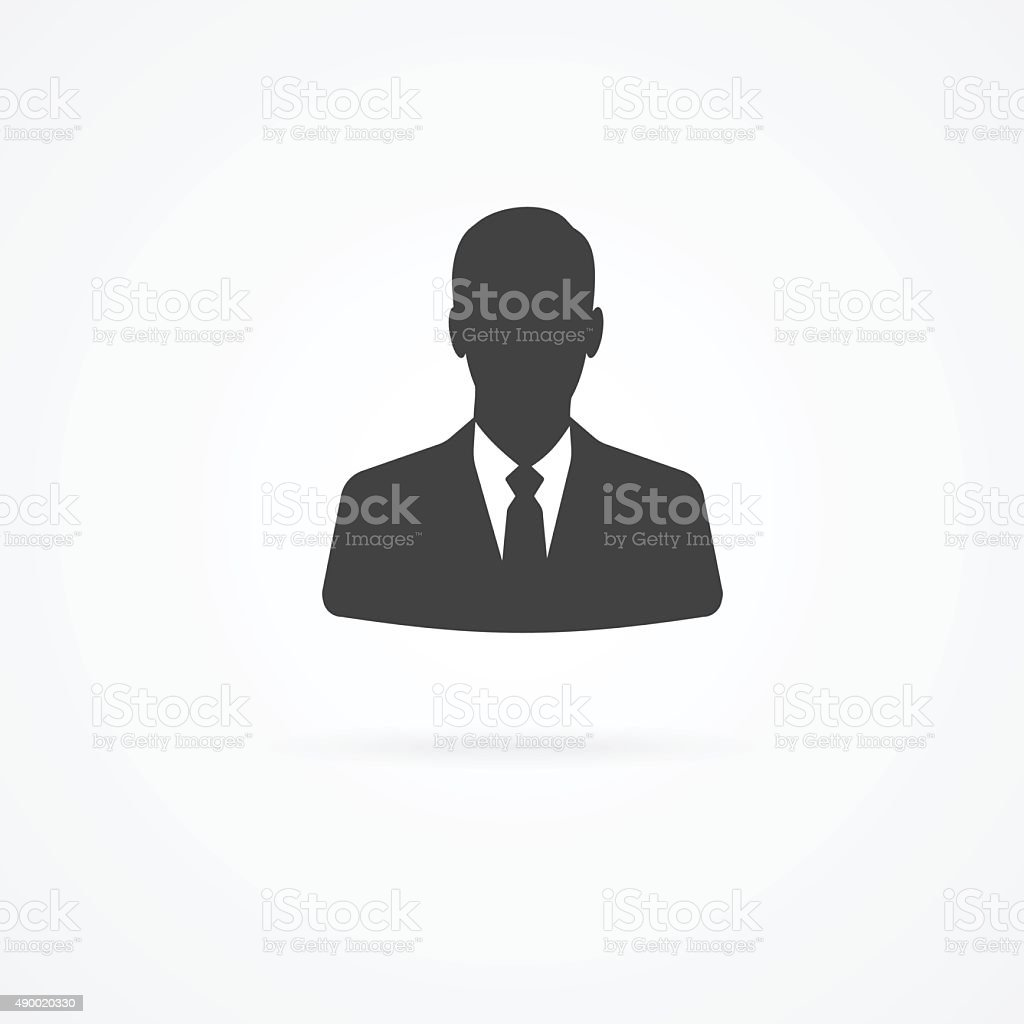 Icon of businessman vector art illustration