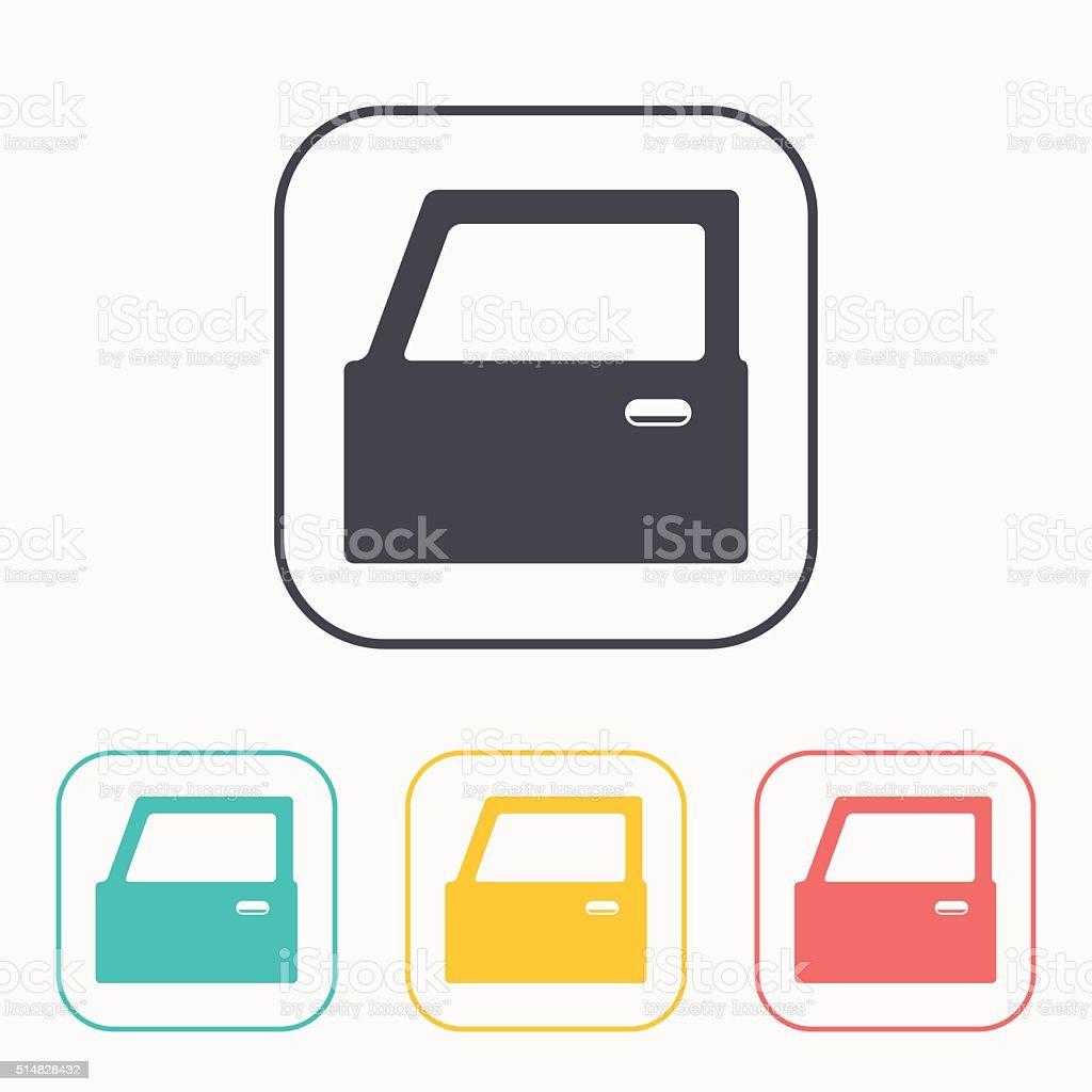 symbole der auto satz tür farbe stock vektor art und mehr bilder von