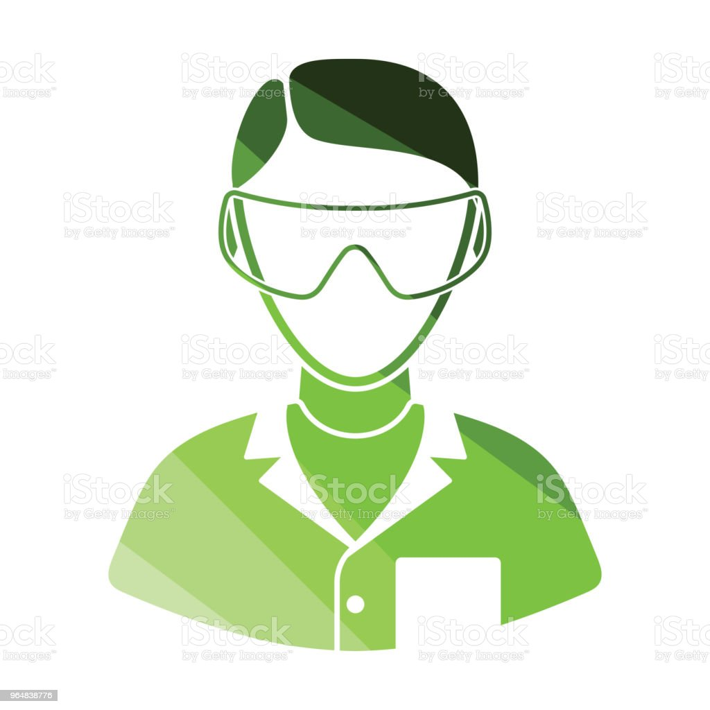 Icon of chemist in eyewear royalty-free icon of chemist in eyewear stock vector art & more images of biology