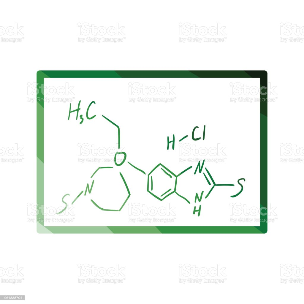 Icon of chemistry formula on classroom blackboard royalty-free icon of chemistry formula on classroom blackboard stock vector art & more images of biology