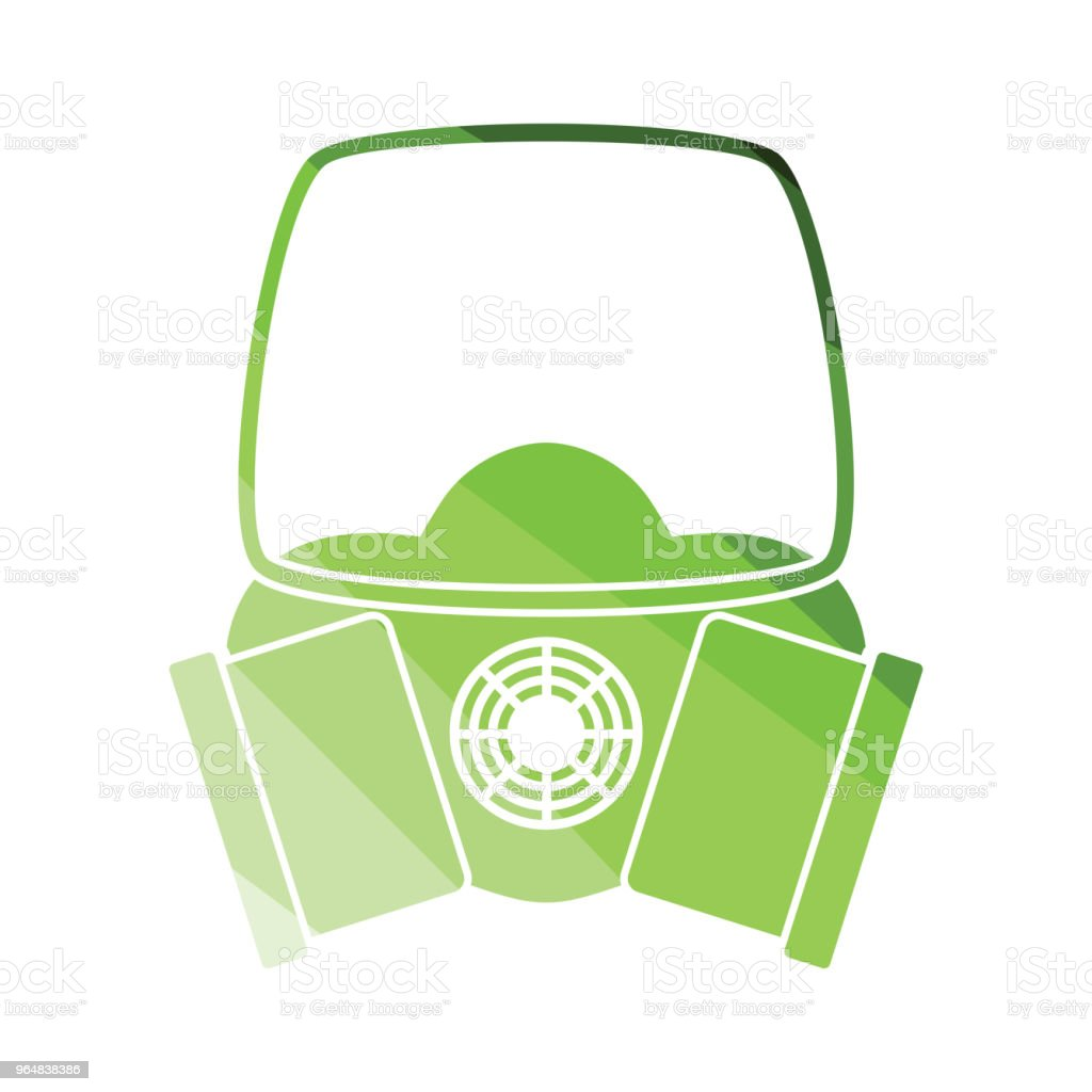 Icon of chemistry gas mask royalty-free icon of chemistry gas mask stock vector art & more images of badge