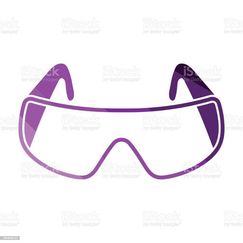 Icon of chemistry protective eyewear royalty-free icon of chemistry protective eyewear stock vector art & more images of biology