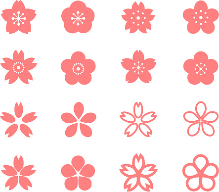 Icon Of Cherry Blossom Stock Illustration - Download Image Now