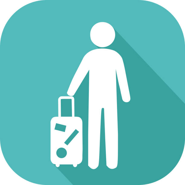 Icon of departure on holidays vector art illustration