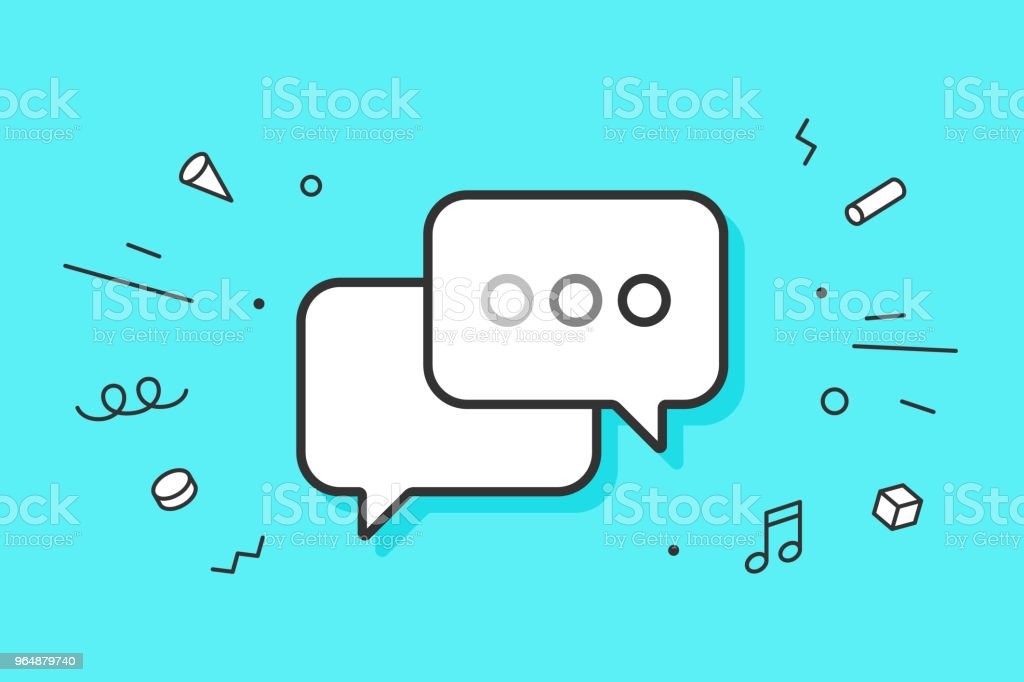 Icon of dialog messages royalty-free icon of dialog messages stock vector art & more images of backgrounds