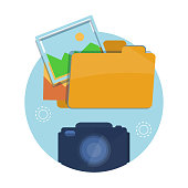 Icon of folder with pictures