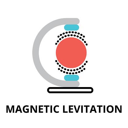 Icon of future technology - magnetic levitation