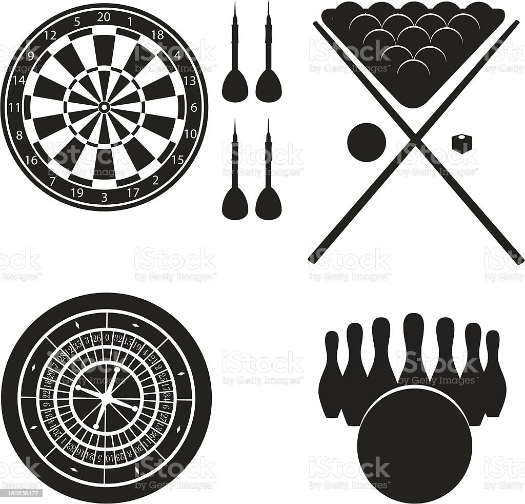 icon of games for leisure black silhouette vector illustration royalty-free stock vector art
