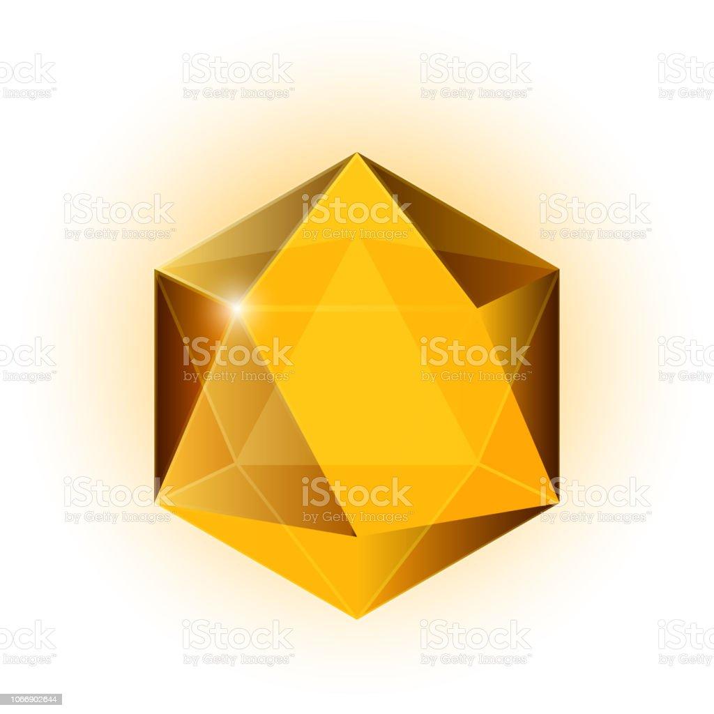 Icono de gema, cristal - ilustración de arte vectorial