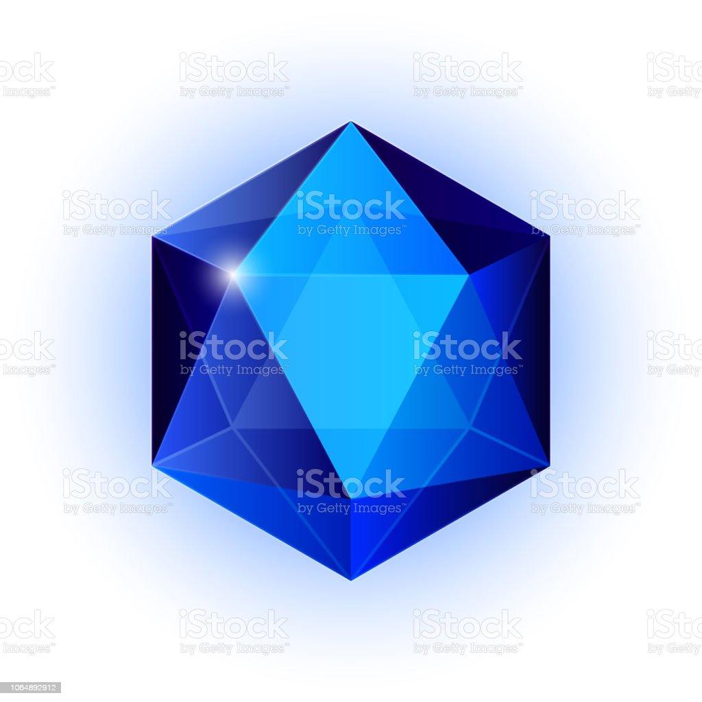Icono de la joya, brillante cristal - ilustración de arte vectorial