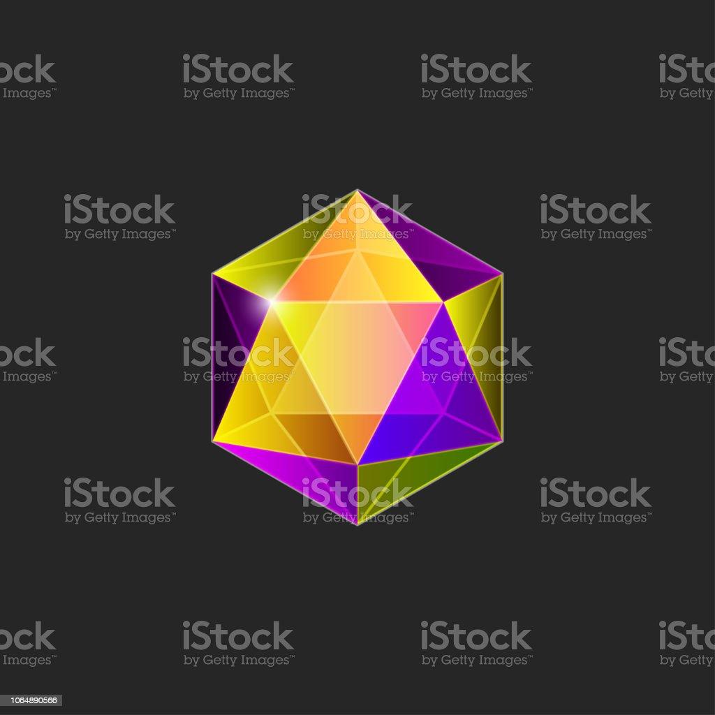 Icono de gema - ilustración de arte vectorial