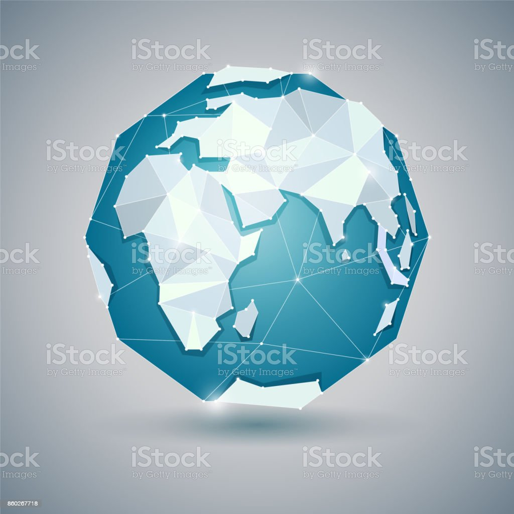 Icon of globe or earth, planet vector art illustration