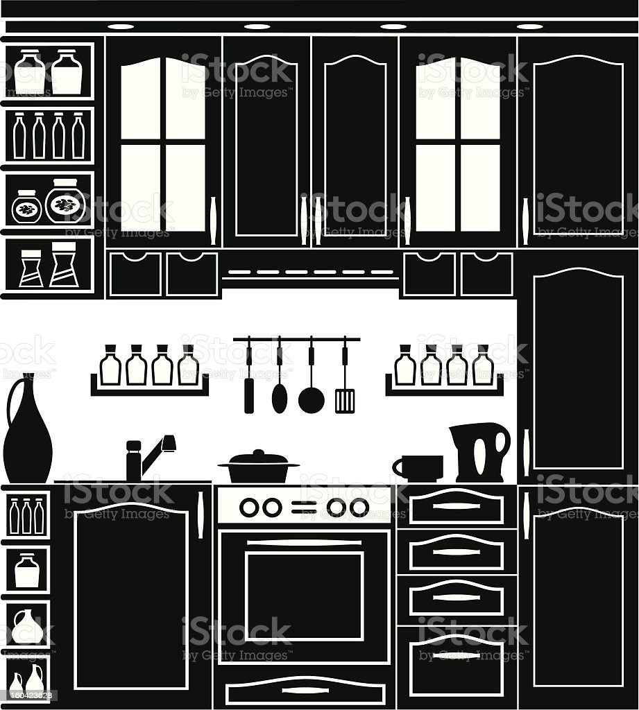 Icon of kitchen royalty-free icon of kitchen stock vector art & more images of appliance