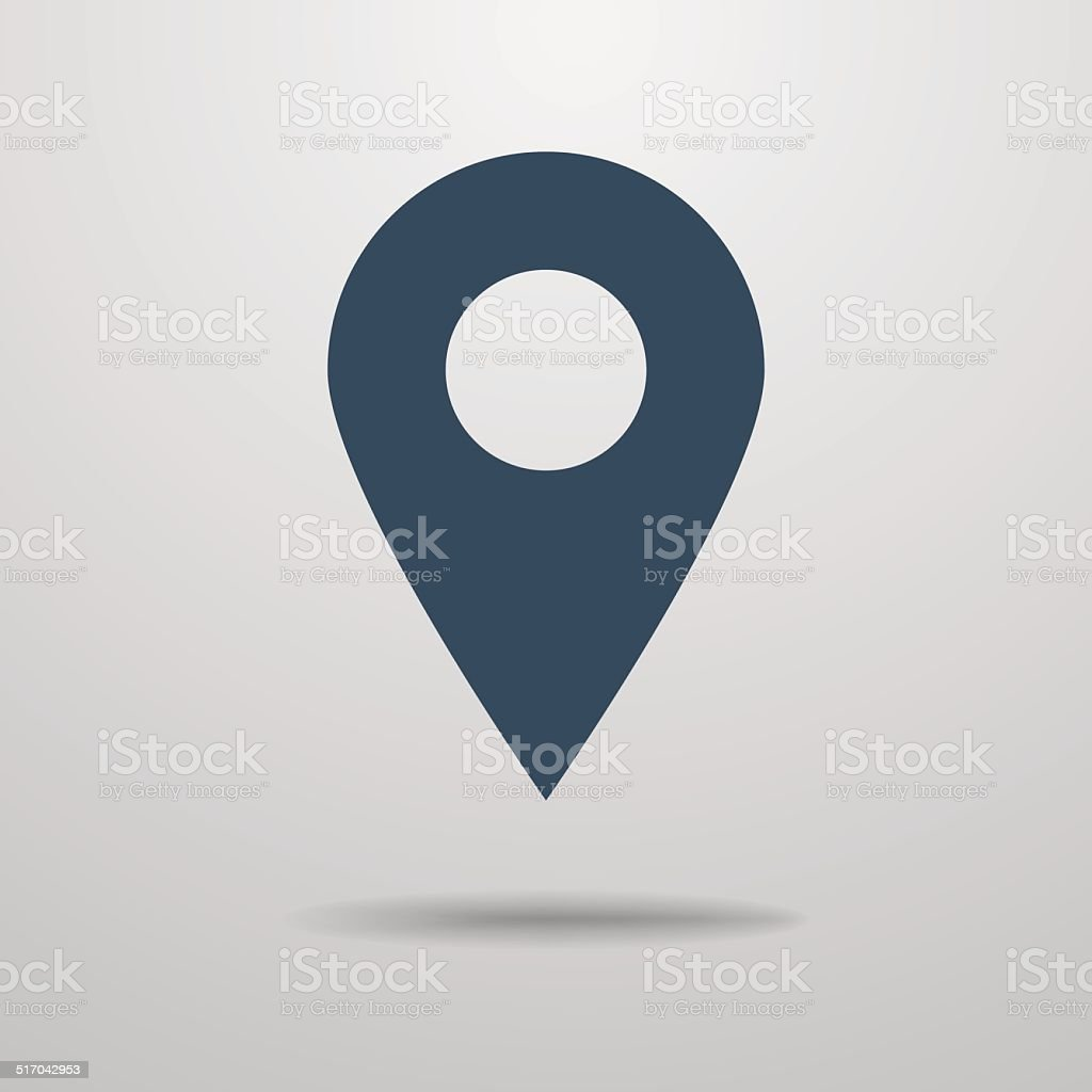 Symbol der map pointer. – Vektorgrafik