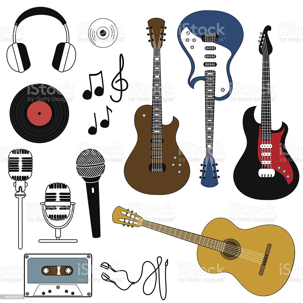 Icon of musical equipment vector art illustration