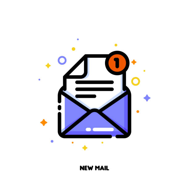 Open Envelope On White Illustrations, Royalty-Free Vector