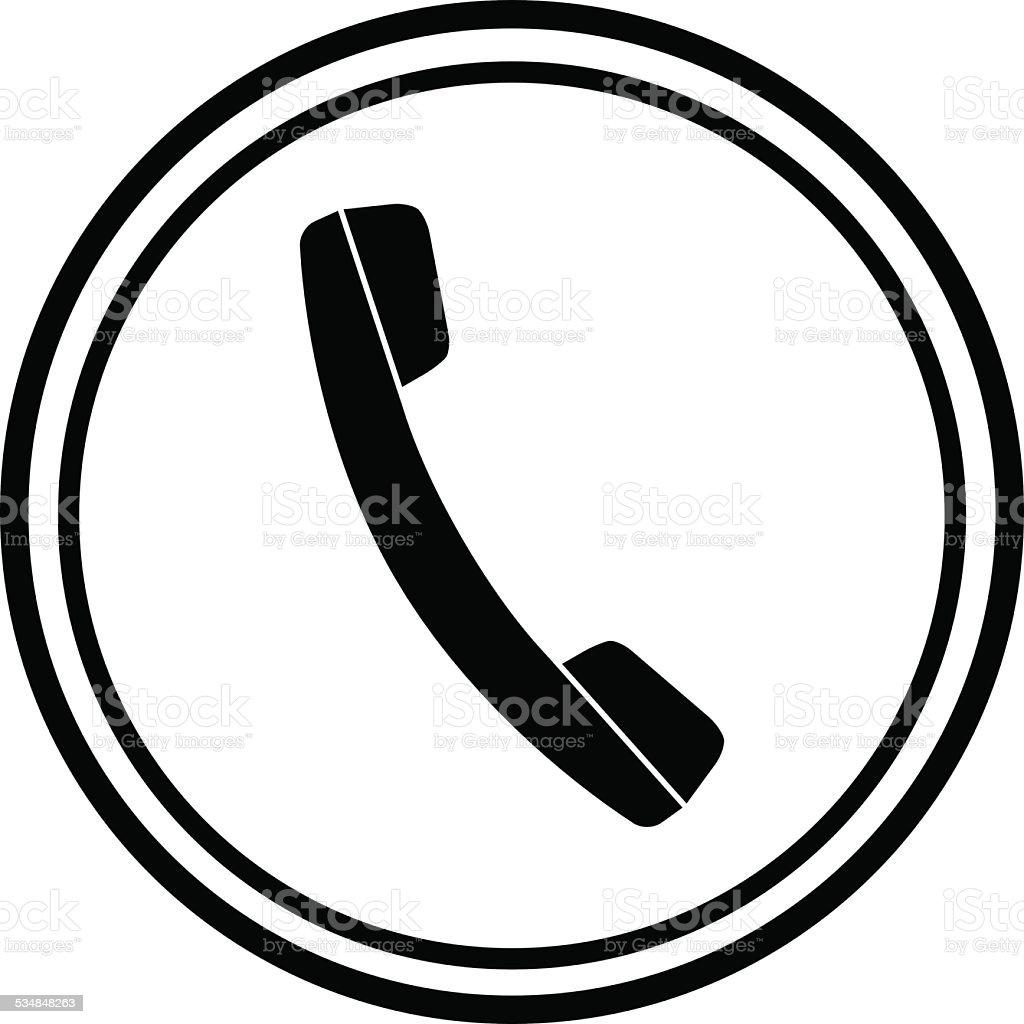 Icon of phone, telephone