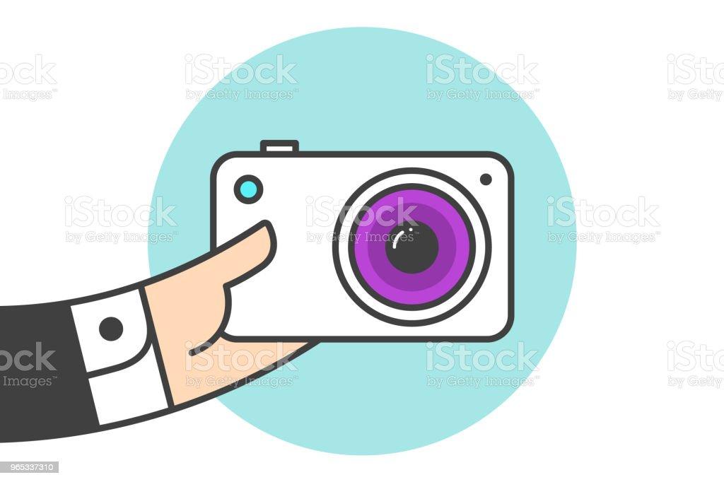 Icône d'appareil photo - clipart vectoriel de Adulte libre de droits