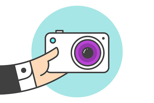 사진 카메라 아이콘 개념에 대한 스톡 벡터 아트 및 기타 이미지
