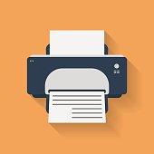 Icon of Printer. Flat style