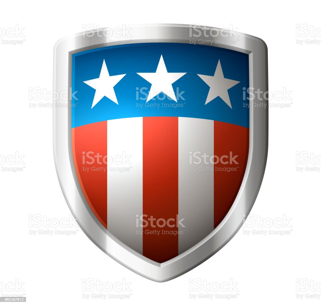 Icon of shield with american design - Royalty-free American Culture stock vector