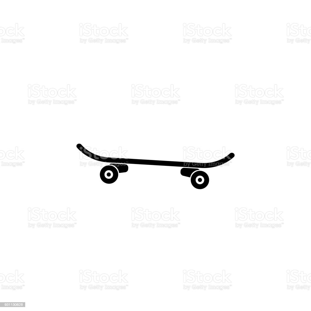 Icon of skateboard vector art illustration